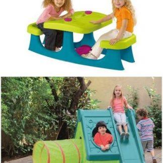 Пластмасови къщи и пързалки